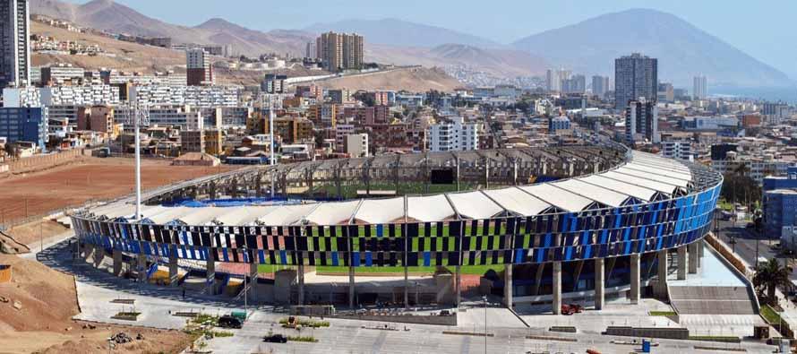 Exterior of Estadio Regional De Antofagasta