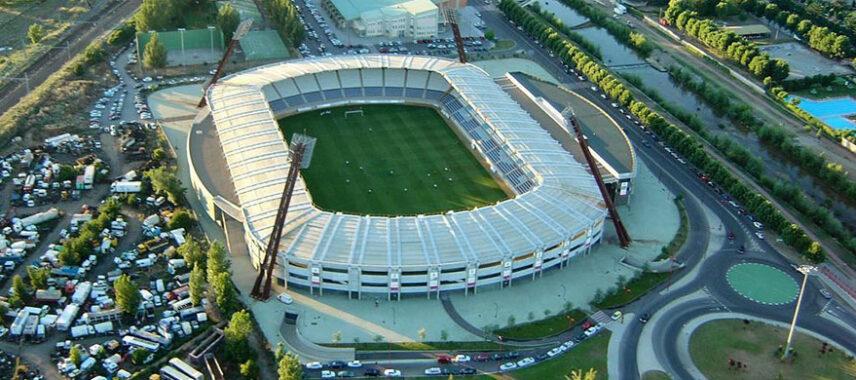 Aerial view of Estadio Reino de León