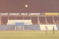 Inside Estadio Samue Vaca at night