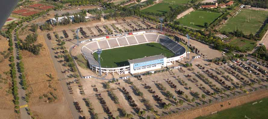 Aerial view of Estadio San Carlos De Apoquindo