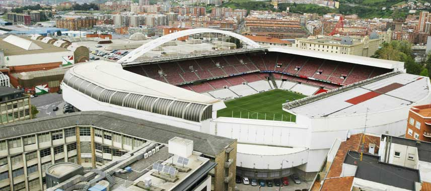 Aerial view of old Estadio San Mames