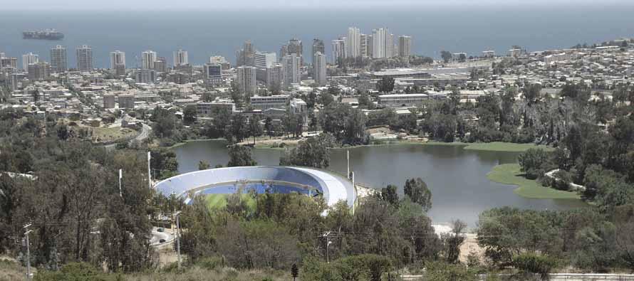 Aerial view of Estadio Sausalito
