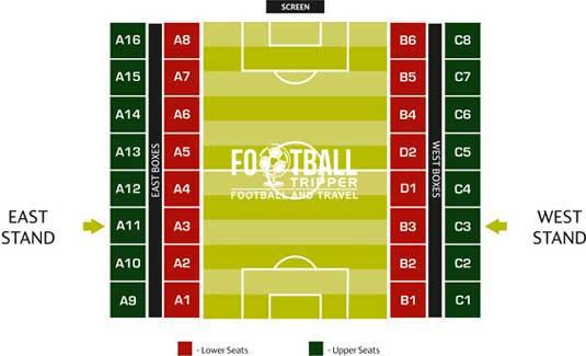 Seating chart for estadio municipal de braga
