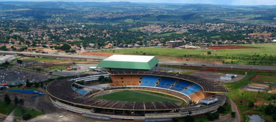 Aerial view of Estadio Serra Dourada