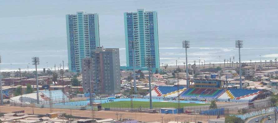 Aerial view of Estadio Tierra De Campeones