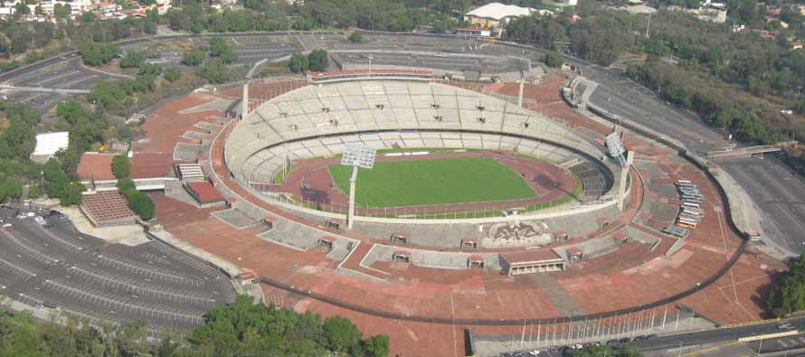 estadio universitario aerial view