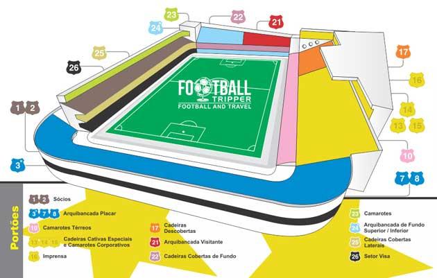 Seating chart for Estádio Urbano Caldeira
