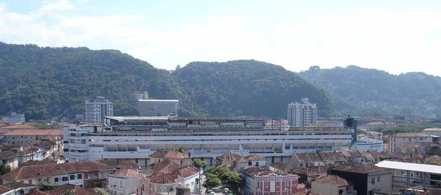 Aerial view of Estadio Urbano Caldeira
