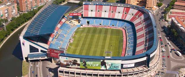 Aerial view of Vicente Calderon