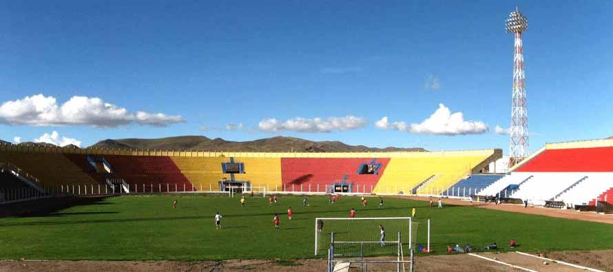 Inside Estadio Victor Agustin Ugarte