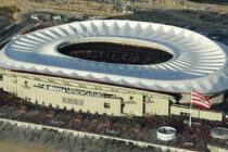 Aerial view of Atletico Madrid's New Stadium