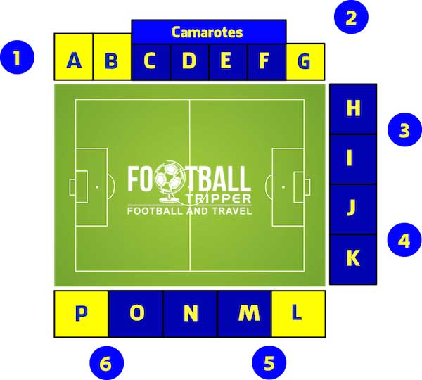 Estadio Coimbra da Mota seating plan