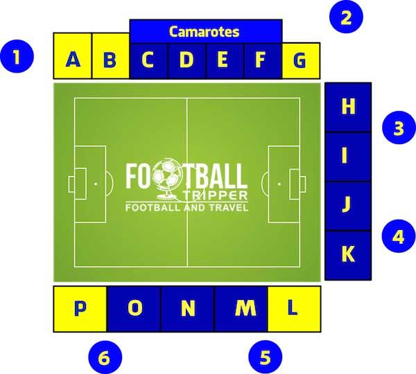 Estadio Coimbra da Mota seating plan