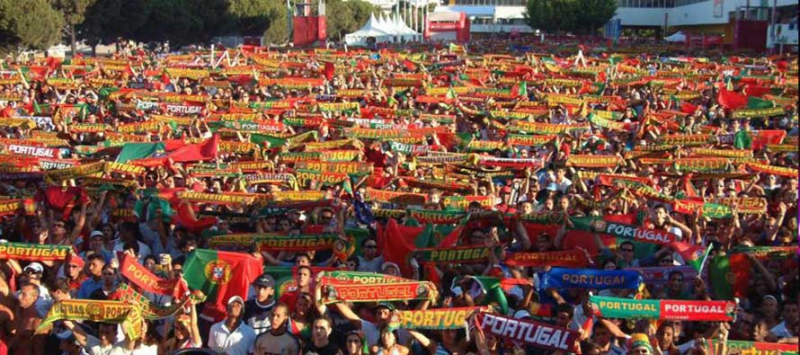 Portugal fans Euro 2004