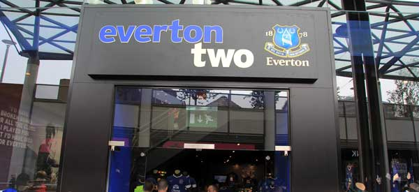 The exterior of Everton's club shop