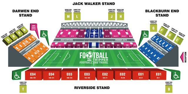 Ewood Park Blackburn Rovers Seating Plan