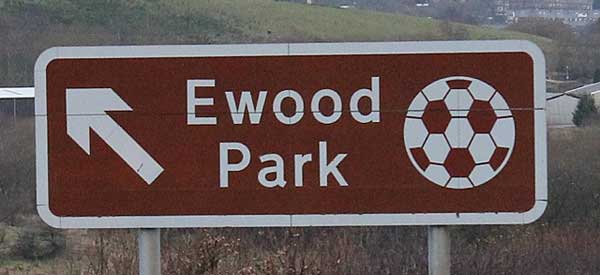 Sign for Ewood Park