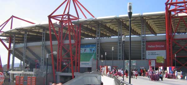 Exterior of Georgios Karaiskakis Stadium