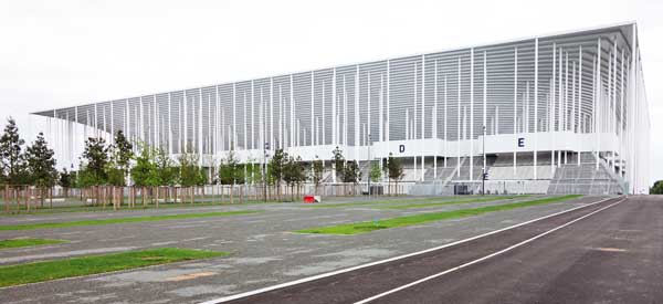 Exterior of Bordeaux's Stadium