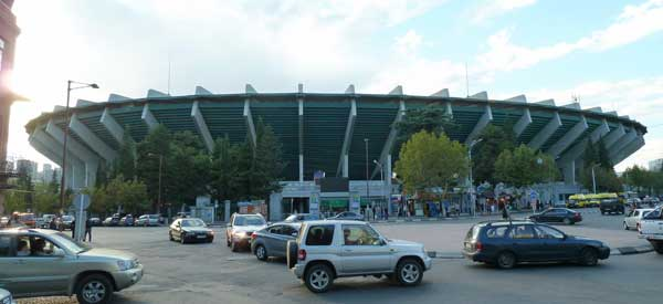 The exterior of Dinamo Stadium