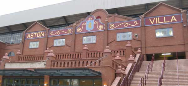 The exterior to the Holte End which fans coming from Aston Station will walk past.