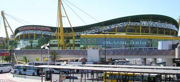Outside Sporting's Stadium