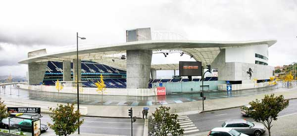 Exterior of Estadio do Dragao