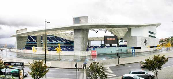 Exterior of Estadio do Dragao