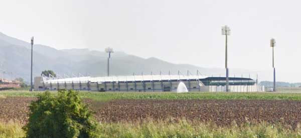 Distance view of Skoda Xanthi Arena