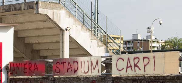 Back of Stadium Carpi's stand