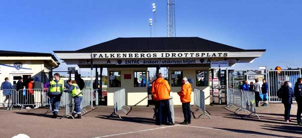 Turnstile to Falkenbergs stadium.
