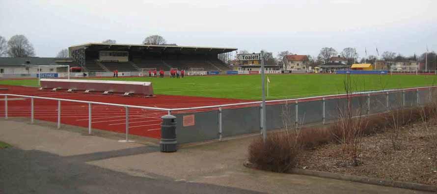 Looking into Falkenbergs Ip stadium