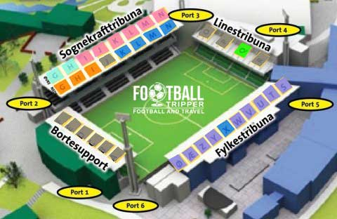 Fosshaugane Campus stadium map
