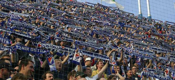 FC Banik Ostrava supporters inside the stadium
