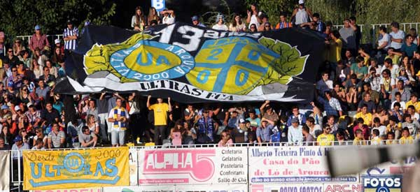 FC arouca supporters inside the stadium