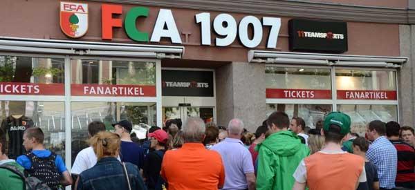 Exterior of FC Augsburg club shop