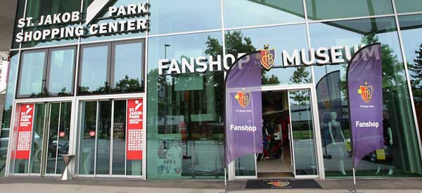 The exterior of FC Basel's club shop