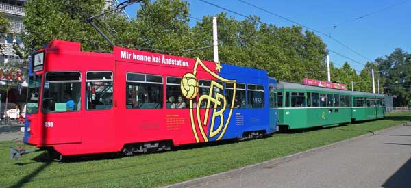 FC Basel Tram advert