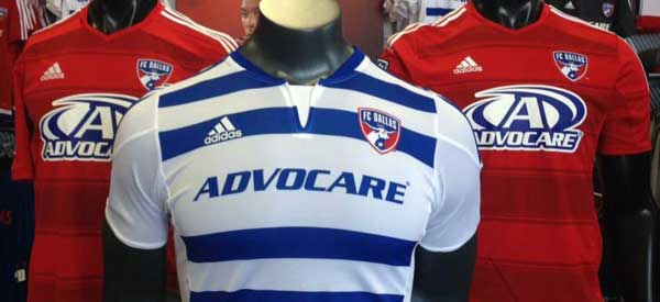 The home and away colours of FC Dallas are usually a good mix of red, white and blue.