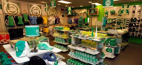Interior of FC Groningen club shop