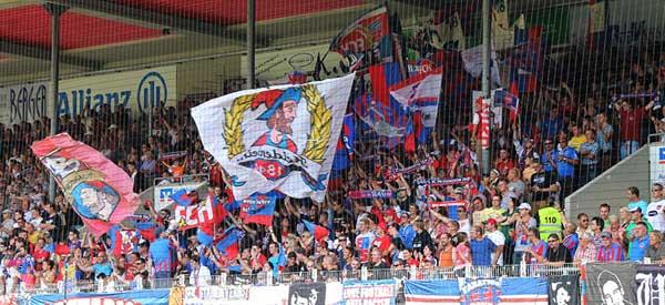 FC Heidenheim supporters inside the stadium
