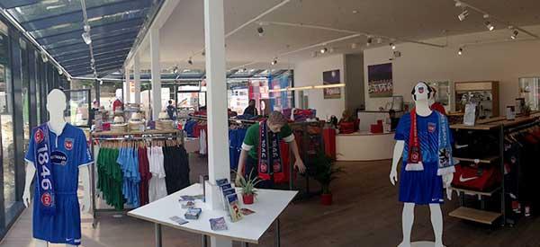 Interior of Heidenheim club shop