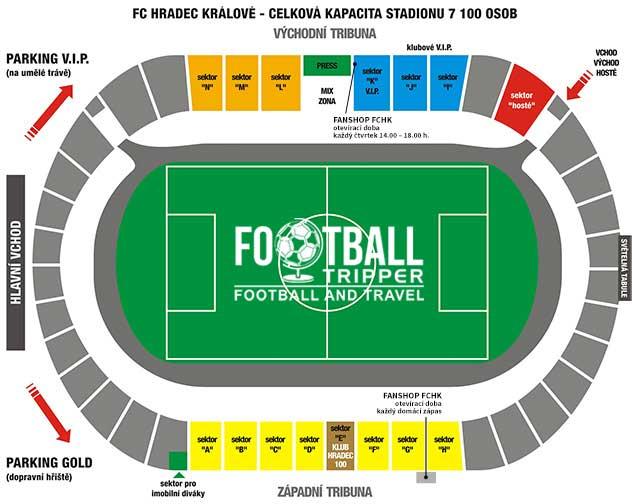 Stadion Vsesportovni seating plan
