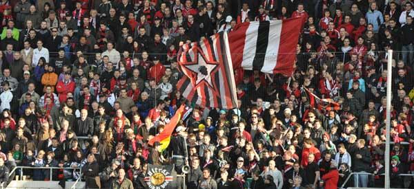 FC Ingoldstadt 04 supporters inside the stadium
