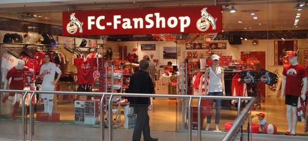 Exterior of FC Koln club shop