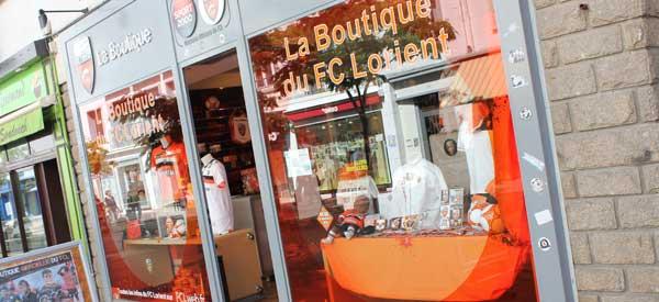 Exterior of FC Lorient club shop