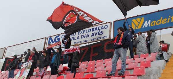 FC Penafield supporters inside the stadium