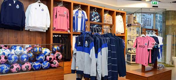 Inside a Porto FC store