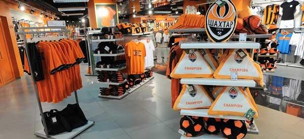 Inside Shakhtar Donetsk's Club Shop