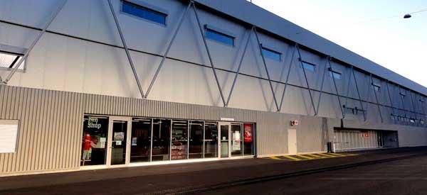 The exterior of FC Thun's club shop